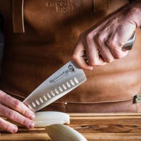 Ergonomický set kuchárskeho a kuchynského noža z nehrdzavejúcej ocele. Big Green Egg.