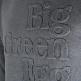 Big Green Egg Mikina s kapucňou tmavo sivej farby s 3D logom
