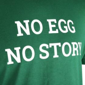 Big Green Egg Tričko NO EGG NO STORY zelenej farby