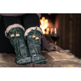 Ponožky hrubé domáce teplé s kožušinkou