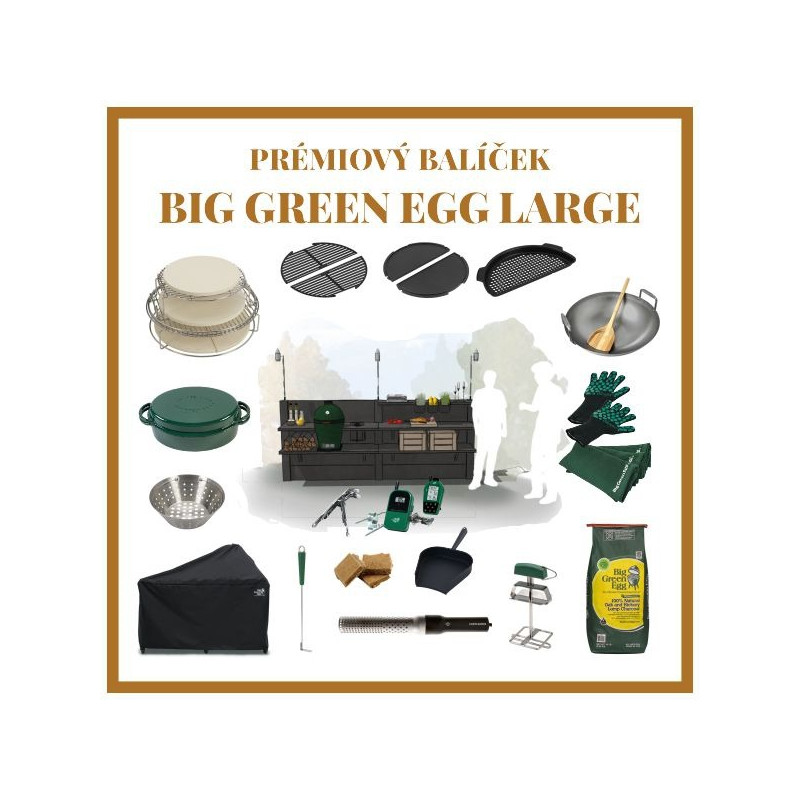 WWOO-02-01 antracitová s integrovaným Big Green Egg Large plnej výbave